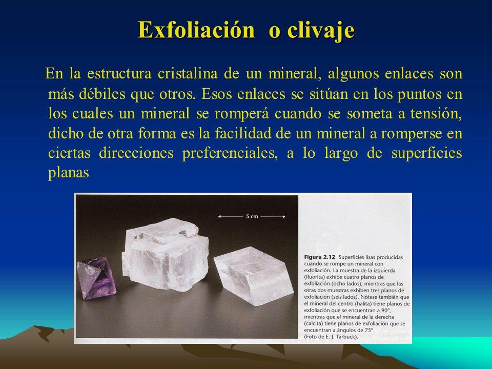 Exfoliación o clivaje