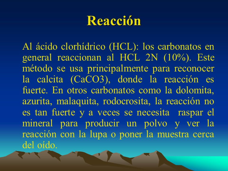 Reacción