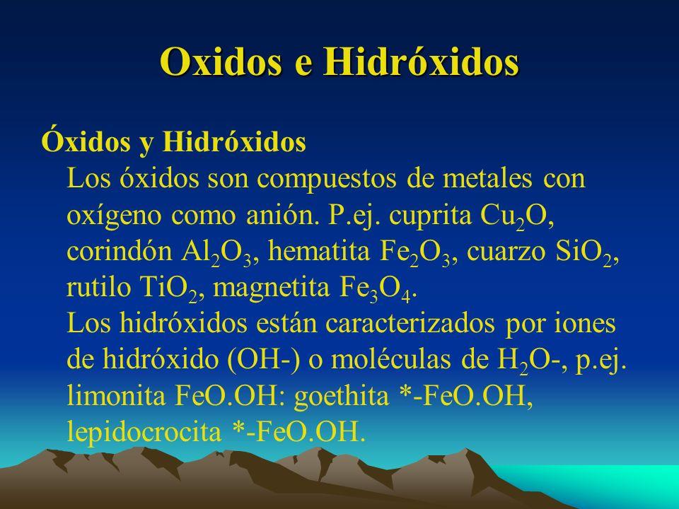Oxidos e Hidróxidos