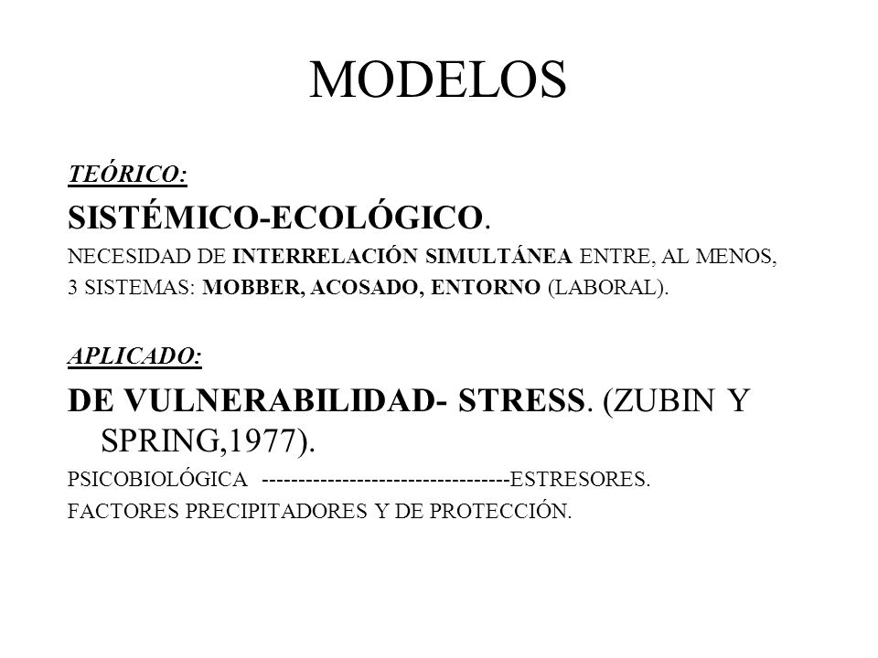 MODELOS SISTÉMICO-ECOLÓGICO.