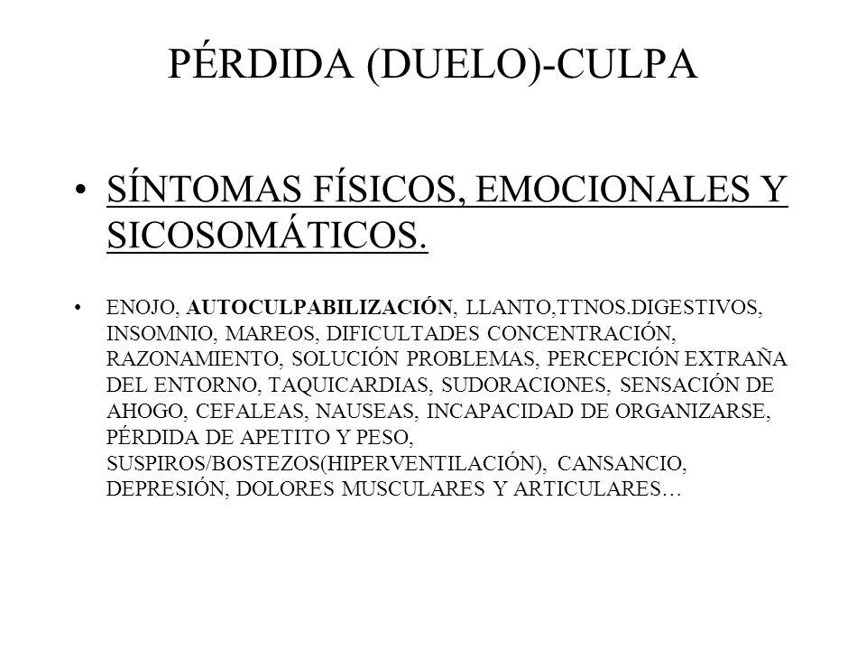 PÉRDIDA (DUELO)-CULPA