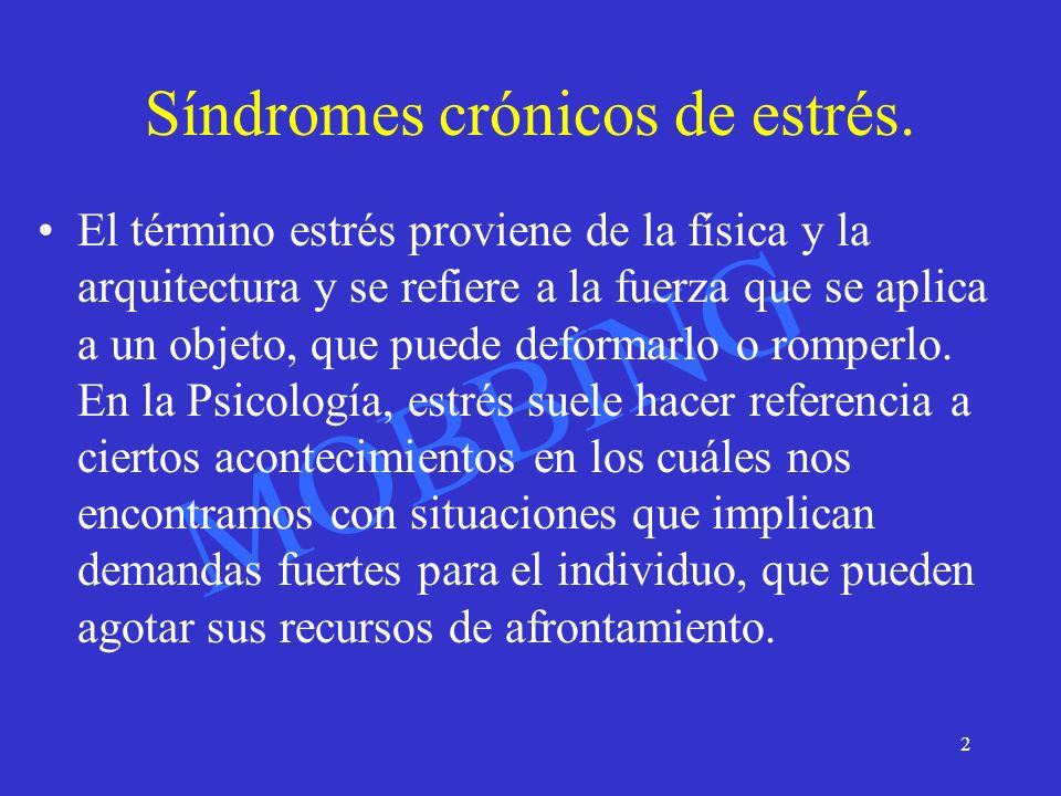 Síndromes crónicos de estrés.