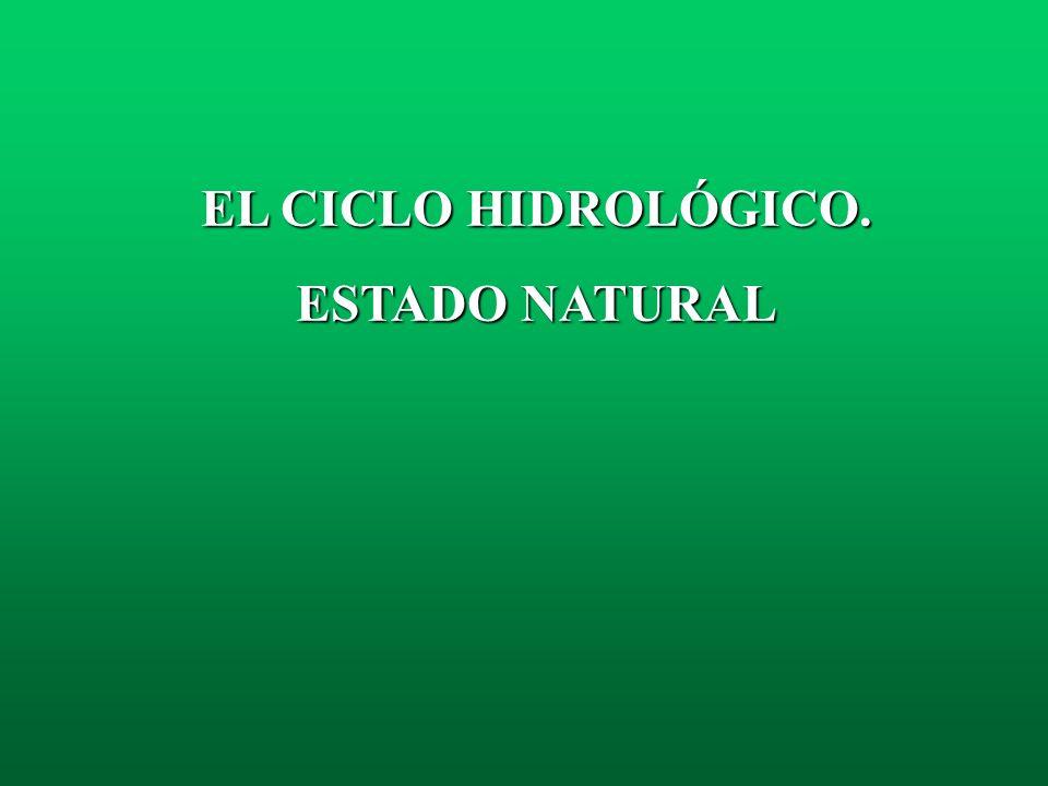 EL CICLO HIDROLÓGICO. ESTADO NATURAL
