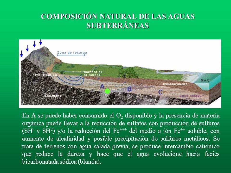 COMPOSICIÓN NATURAL DE LAS AGUAS SUBTERRÁNEAS