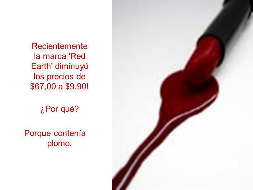 Recientemente la marca Red Earth diminuyó los precios de $67,00 a $9