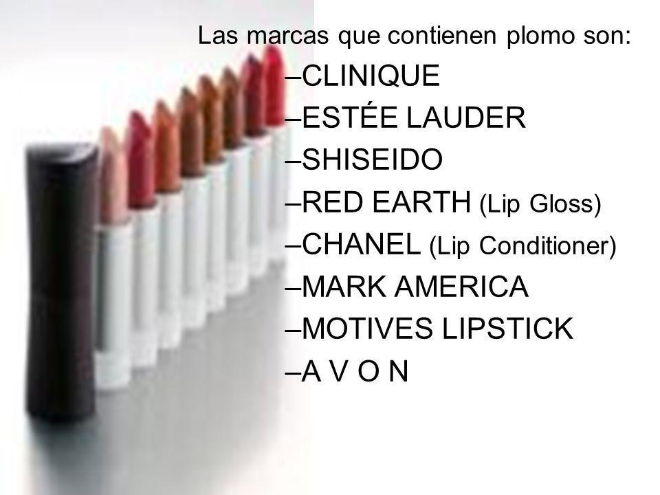 Las marcas que contienen plomo son: