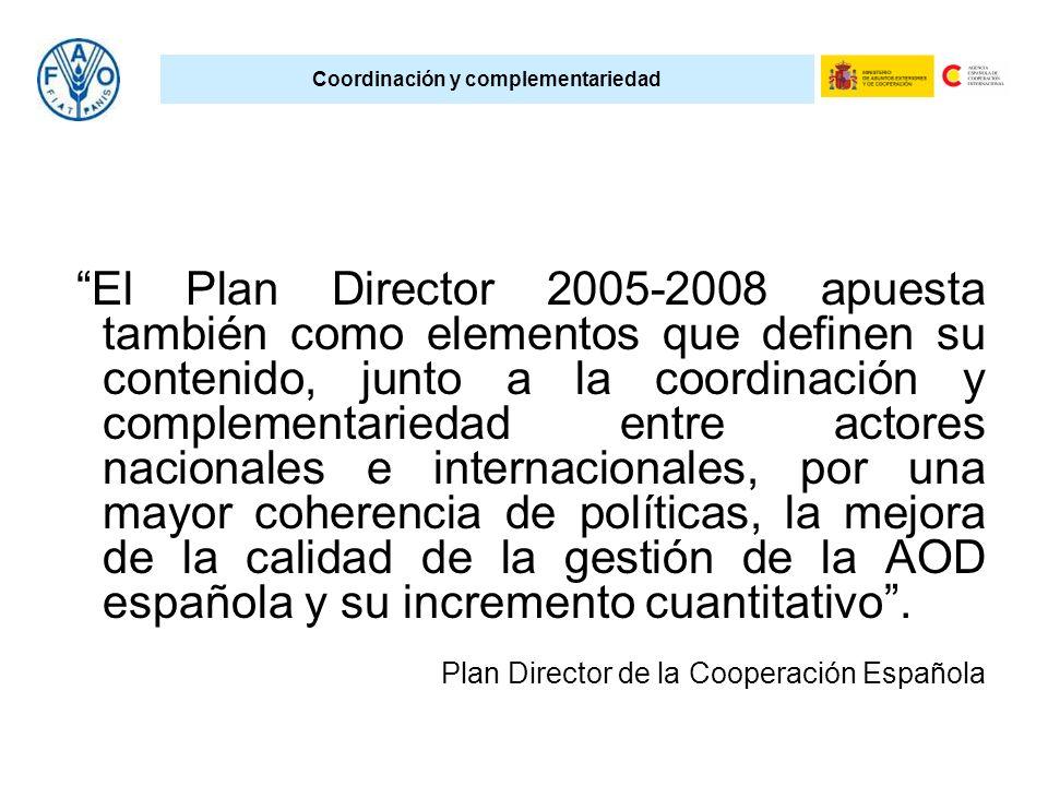 Coordinación y complementariedad