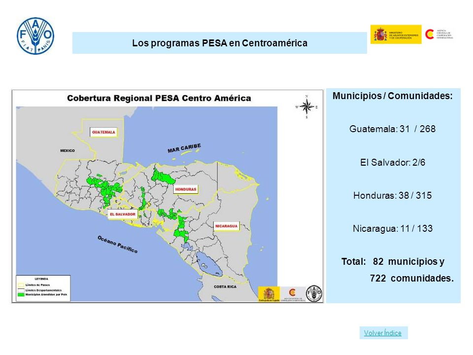 Los programas PESA en Centroamérica