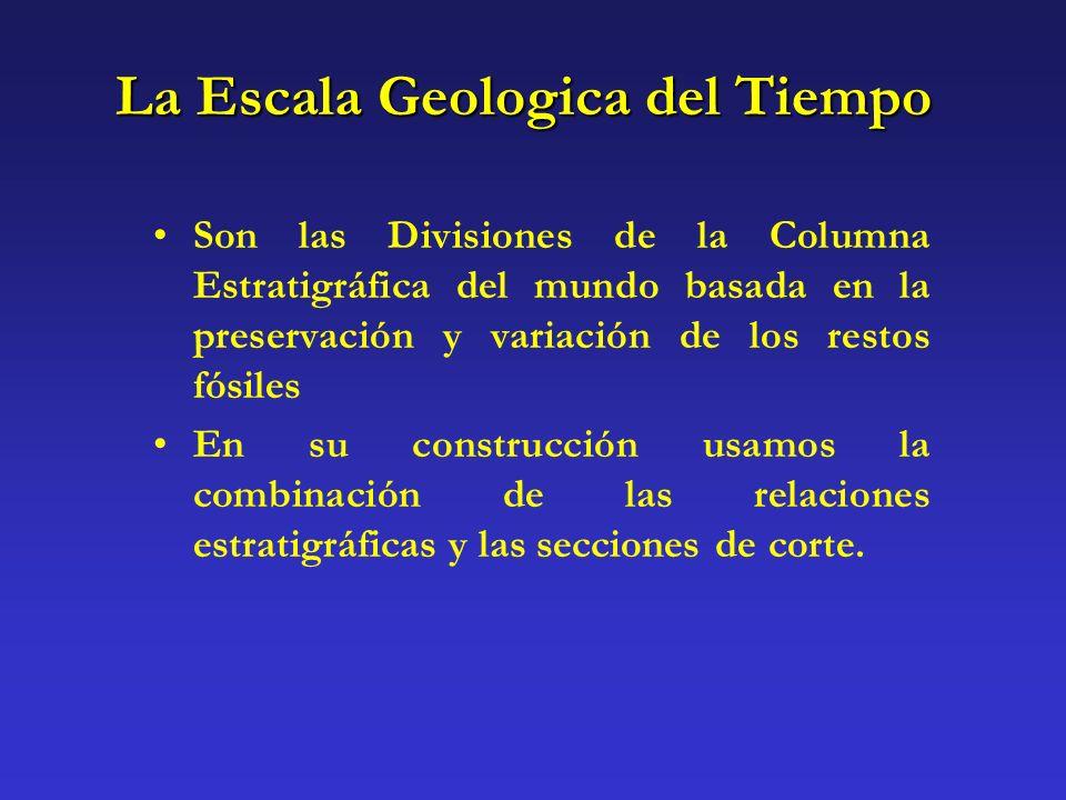 La Escala Geologica del Tiempo