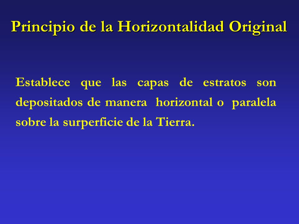 Principio de la Horizontalidad Original