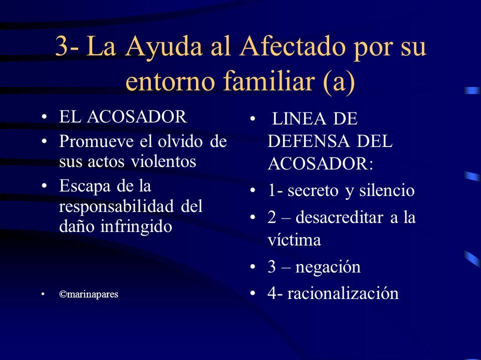 3- La Ayuda al Afectado por su entorno familiar (a)