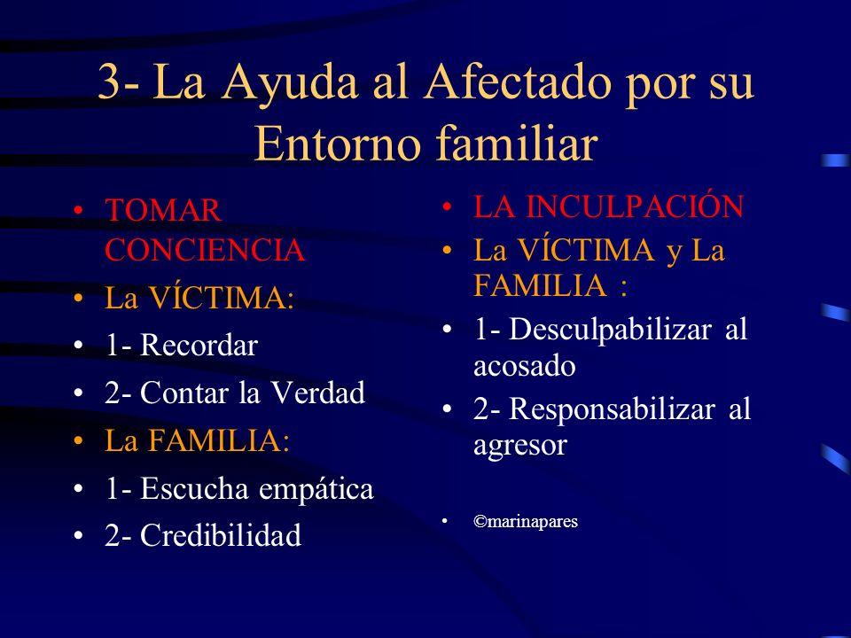 3- La Ayuda al Afectado por su Entorno familiar