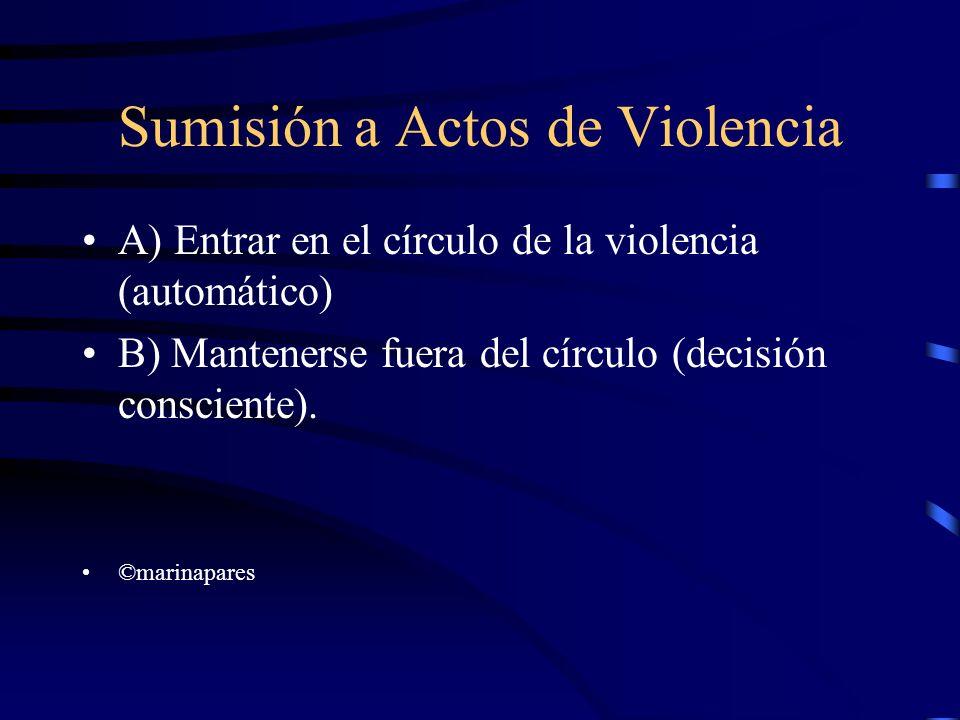 Sumisión a Actos de Violencia