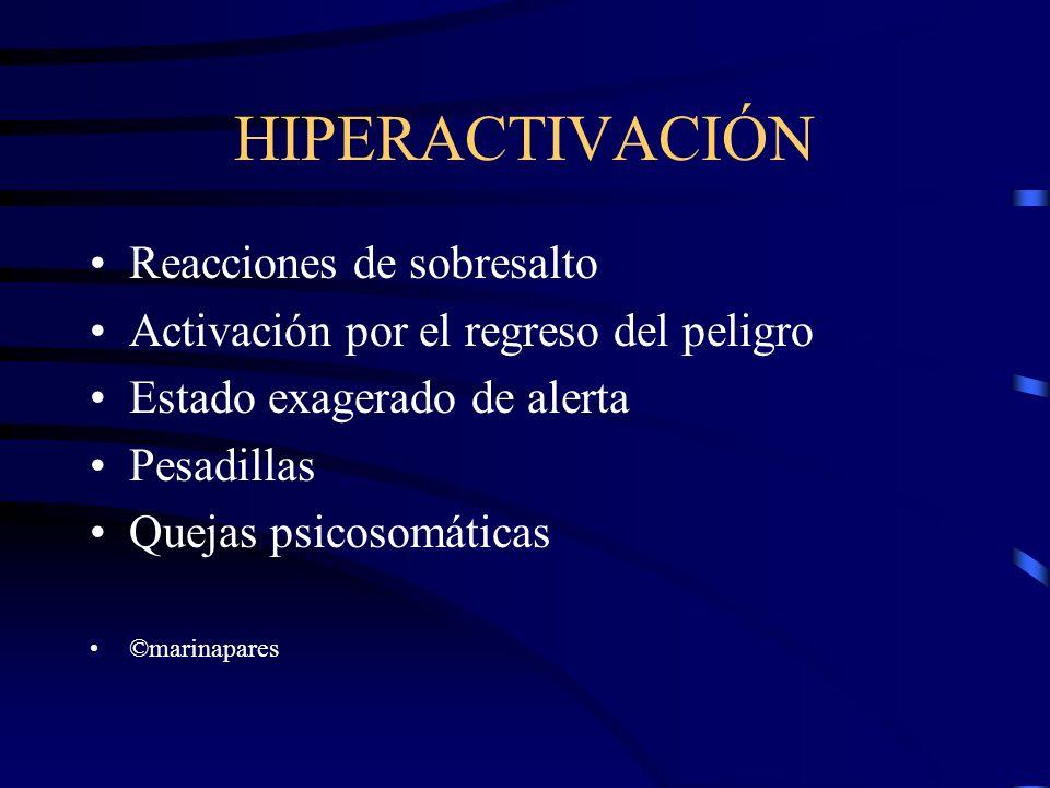 HIPERACTIVACIÓN Reacciones de sobresalto