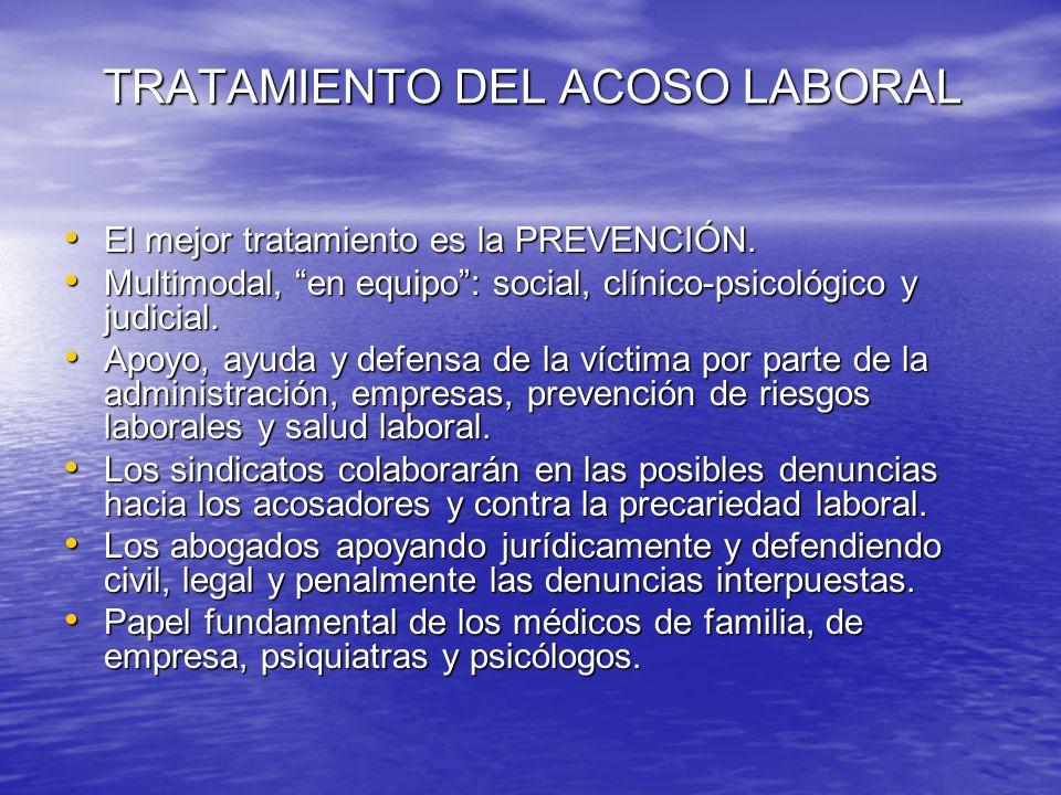 TRATAMIENTO DEL ACOSO LABORAL