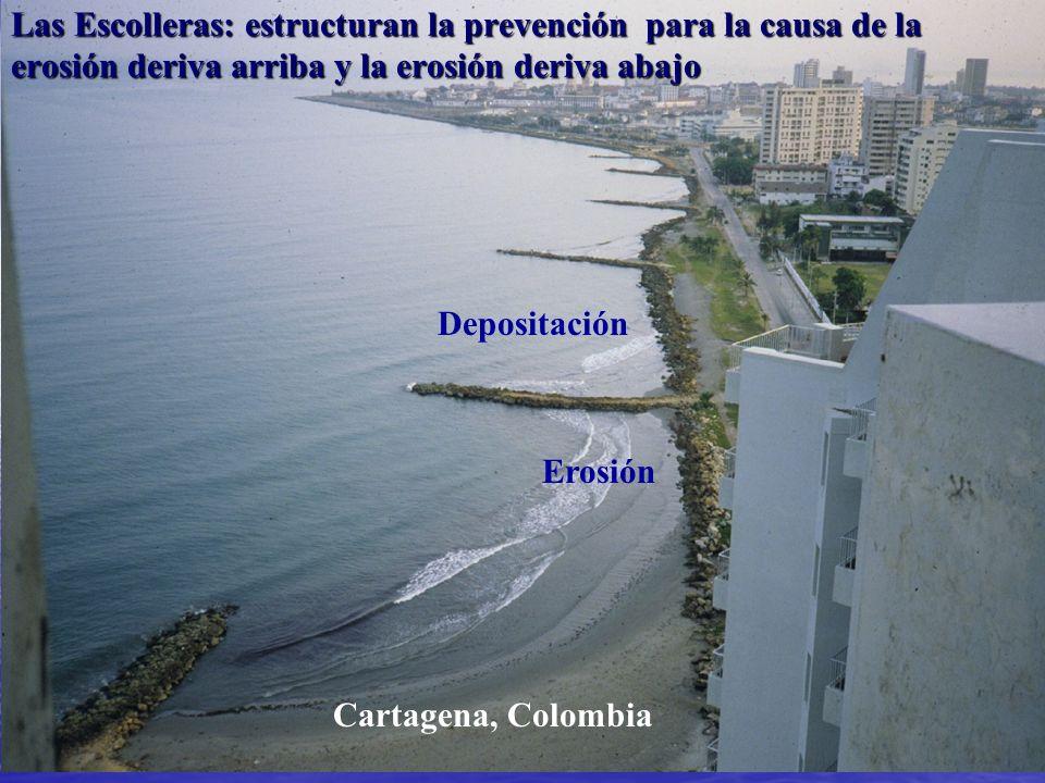 Las Escolleras: estructuran la prevención para la causa de la erosión deriva arriba y la erosión deriva abajo