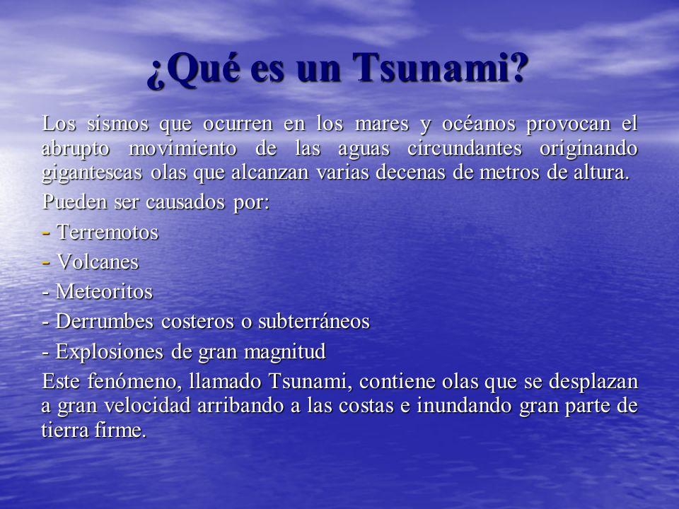 ¿Qué es un Tsunami