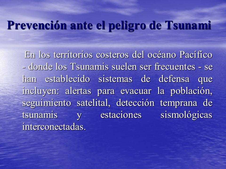 Prevención ante el peligro de Tsunami