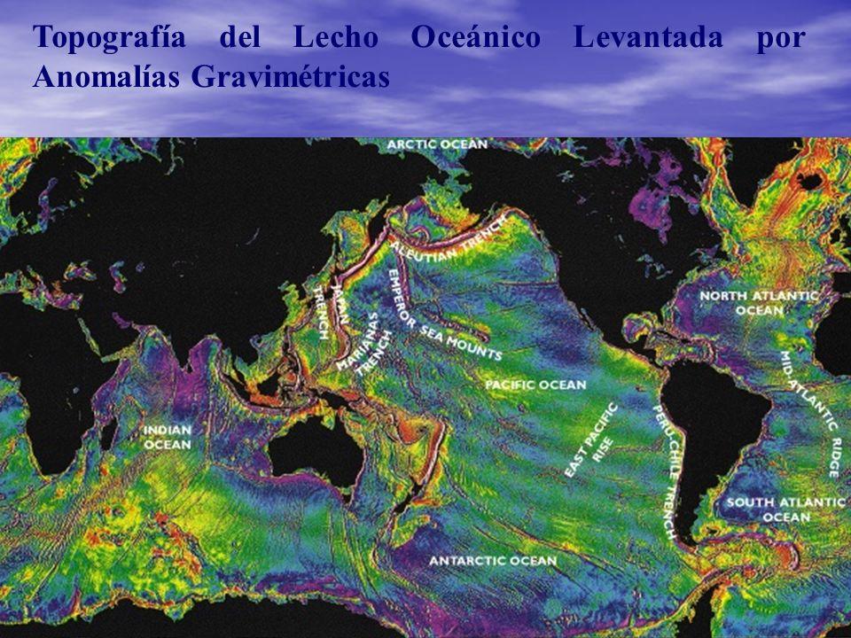 Topografía del Lecho Oceánico Levantada por Anomalías Gravimétricas
