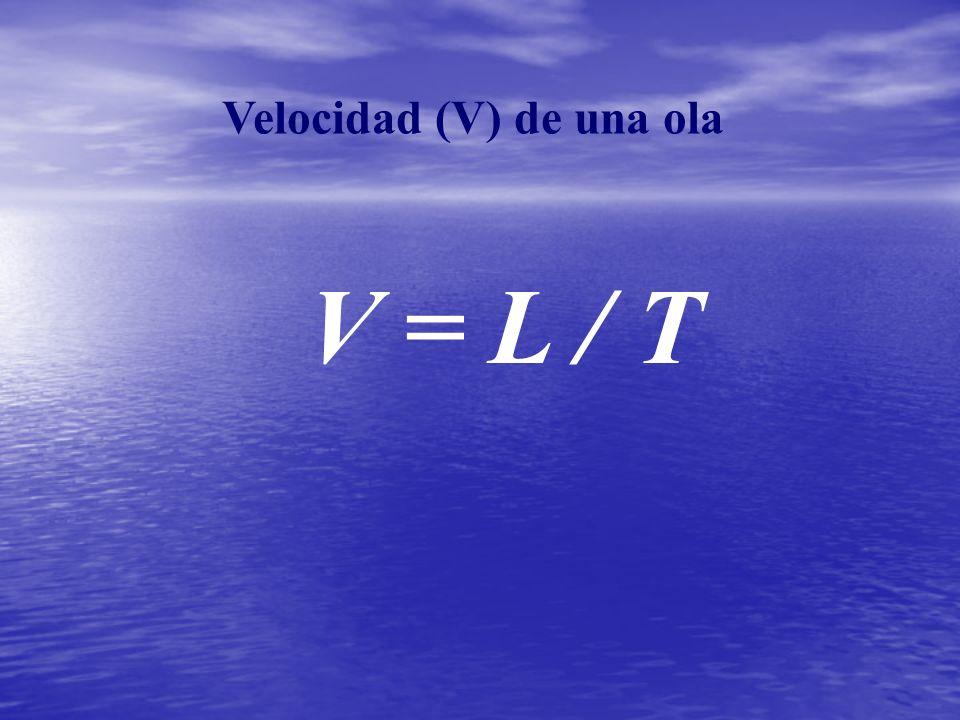 Velocidad (V) de una ola