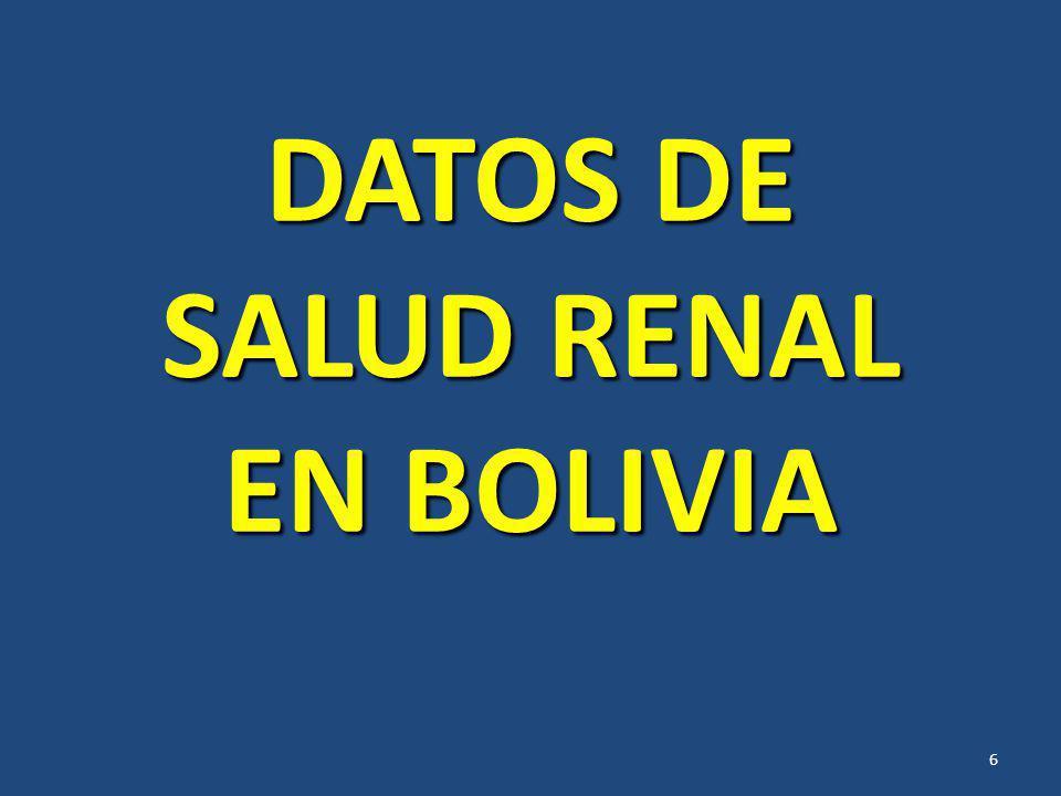DATOS DE SALUD RENAL EN BOLIVIA