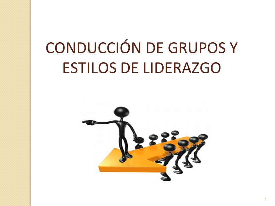 CONDUCCIÓN DE GRUPOS Y ESTILOS DE LIDERAZGO