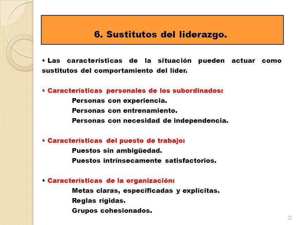 6. Sustitutos del liderazgo.