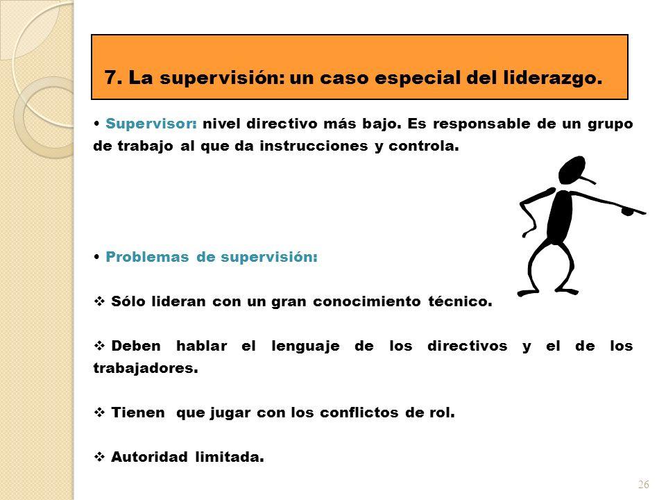 7. La supervisión: un caso especial del liderazgo.