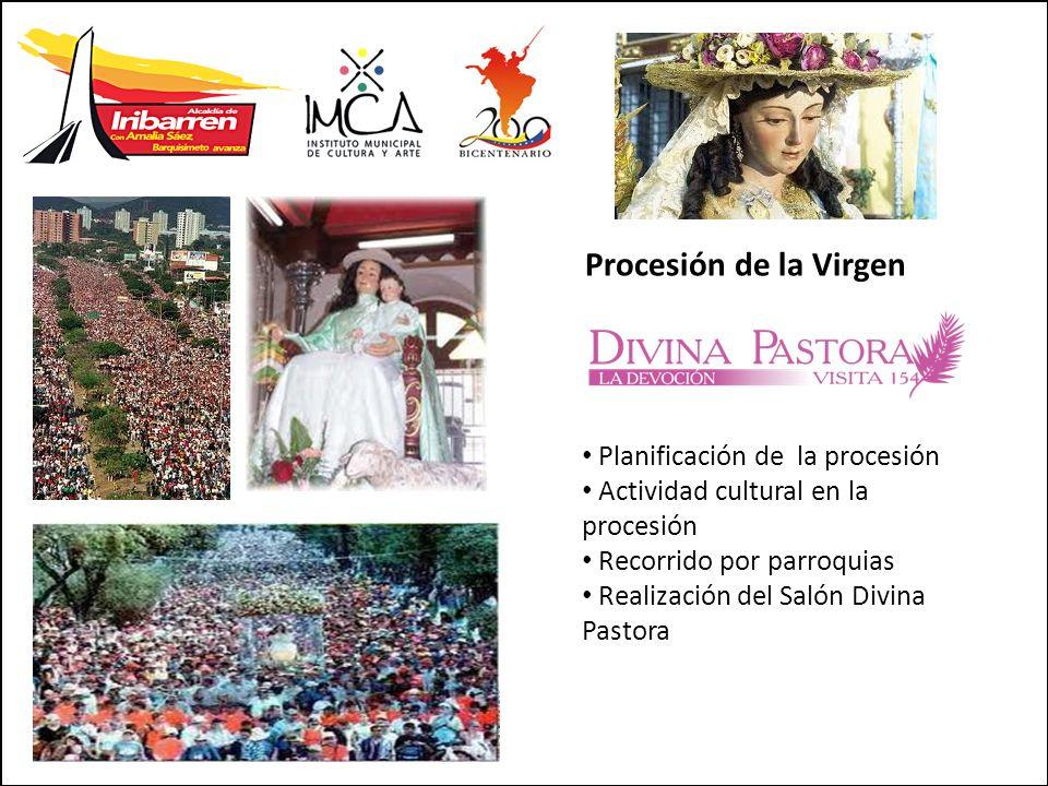 Procesión de la Virgen Planificación de la procesión