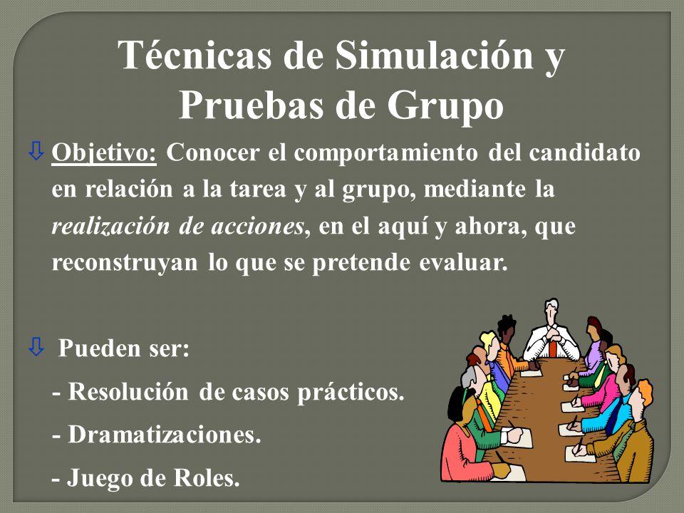 Técnicas de Simulación y Pruebas de Grupo