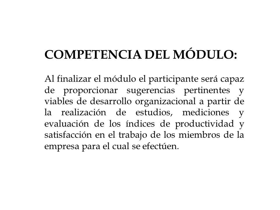 COMPETENCIA DEL MÓDULO:
