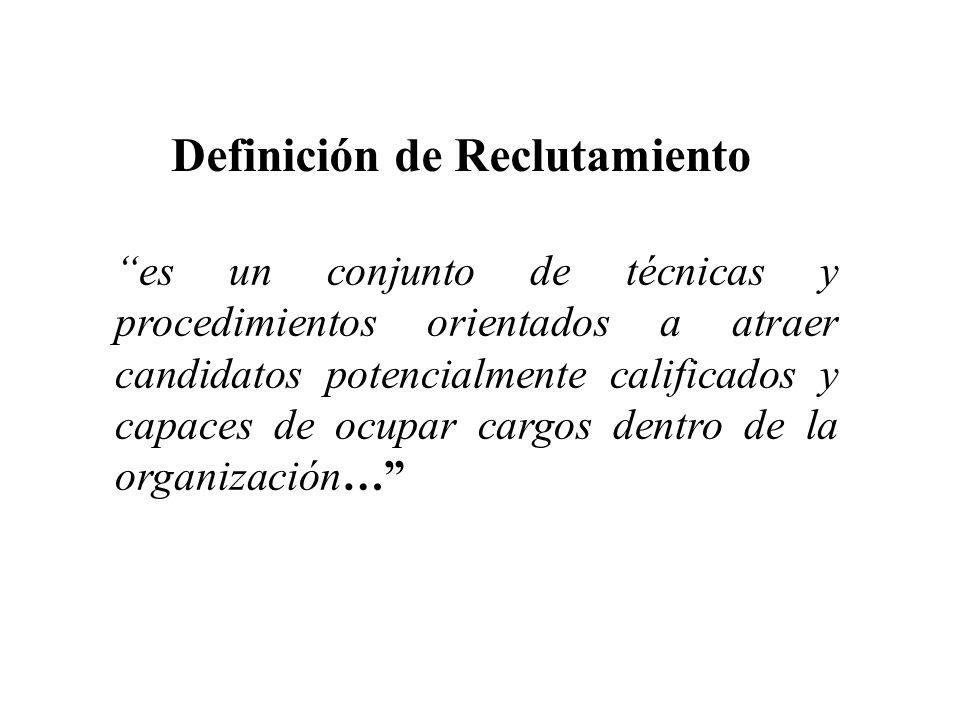 Definición de Reclutamiento