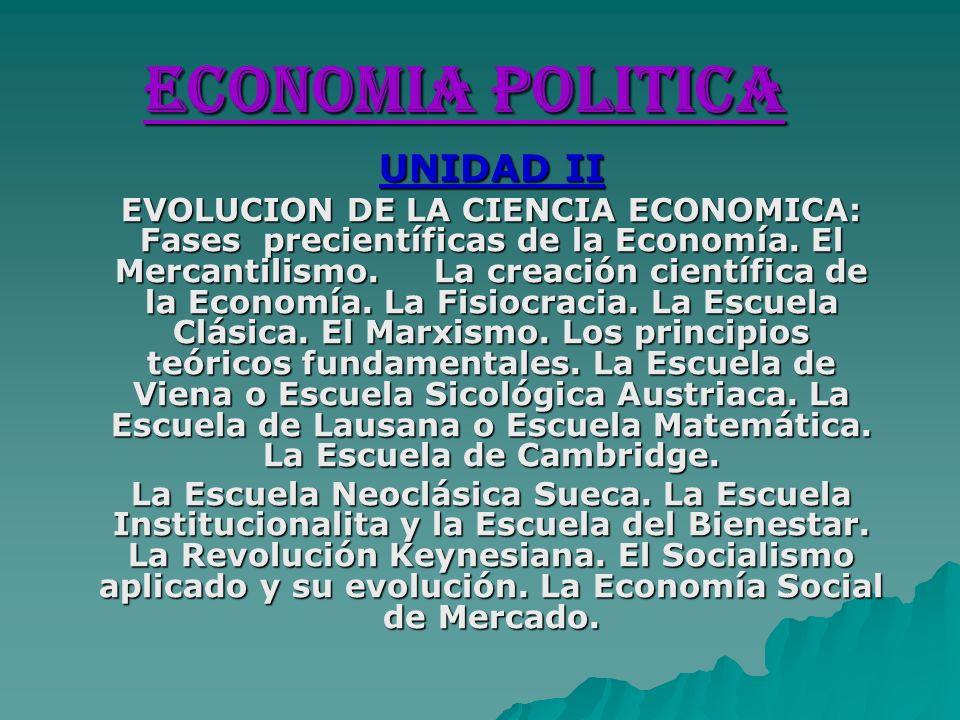 ECONOMIA POLITICA UNIDAD II