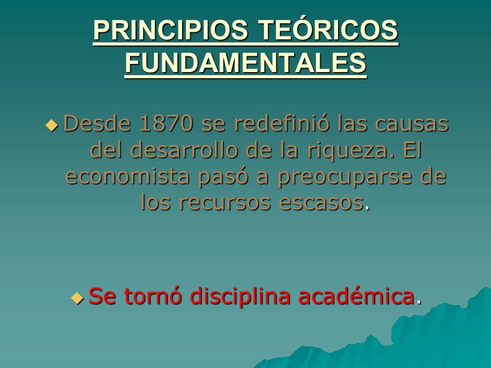 PRINCIPIOS TEÓRICOS FUNDAMENTALES