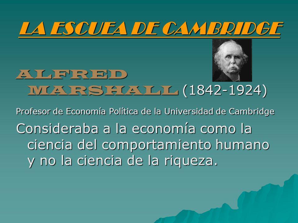 LA ESCUEA DE CAMBRIDGE ALFRED MARSHALL (1842-1924)