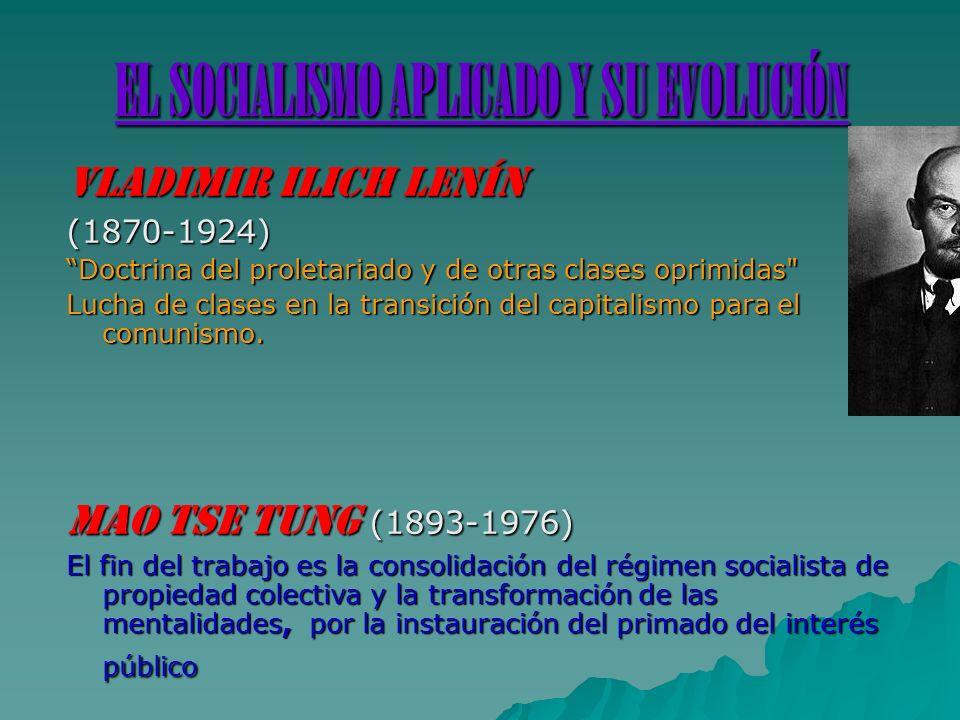 EL SOCIALISMO APLICADO Y SU EVOLUCIÓN