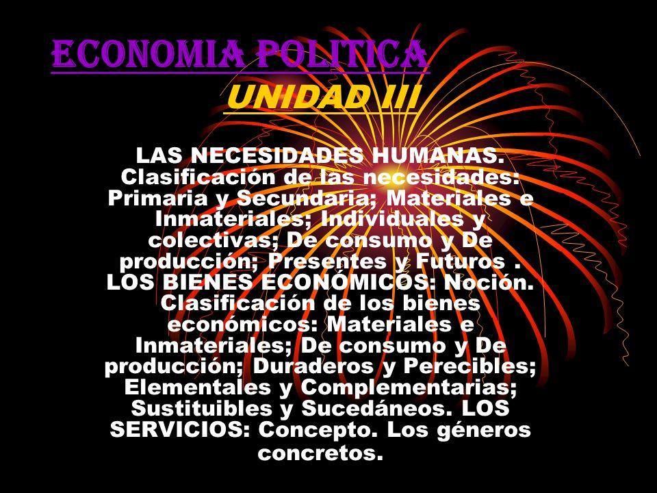 ECONOMIA POLITICA UNIDAD III