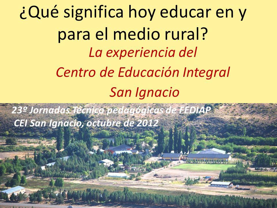 ¿Qué significa hoy educar en y para el medio rural