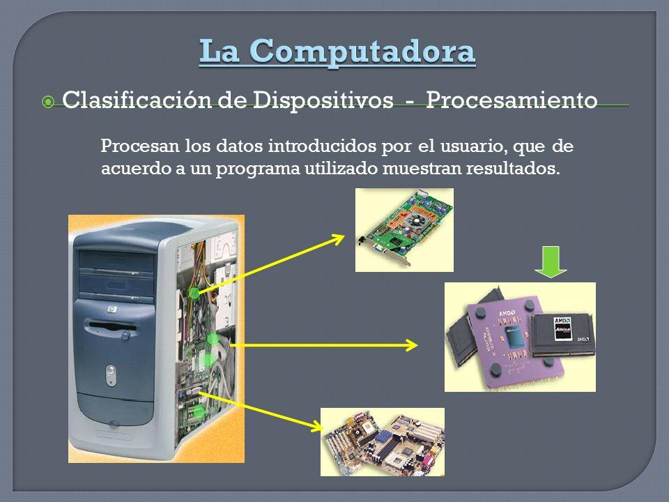 La Computadora Clasificación de Dispositivos - Procesamiento
