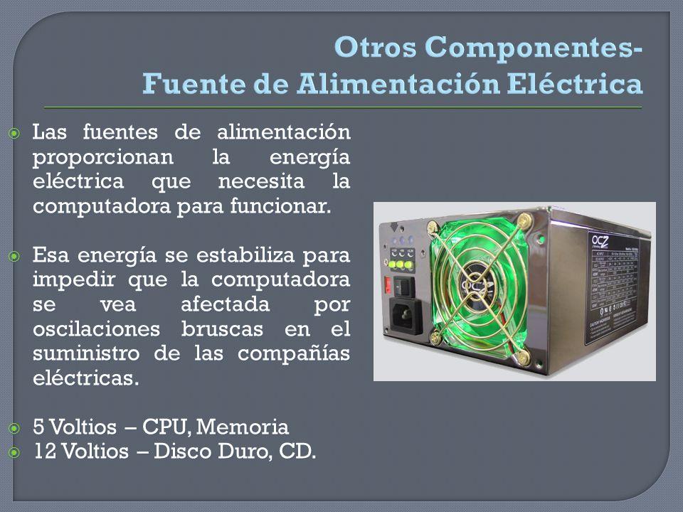 Otros Componentes- Fuente de Alimentación Eléctrica