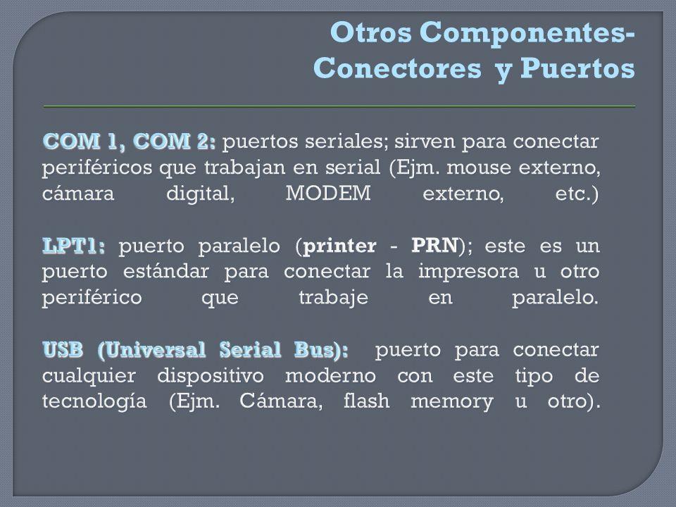 Otros Componentes- Conectores y Puertos