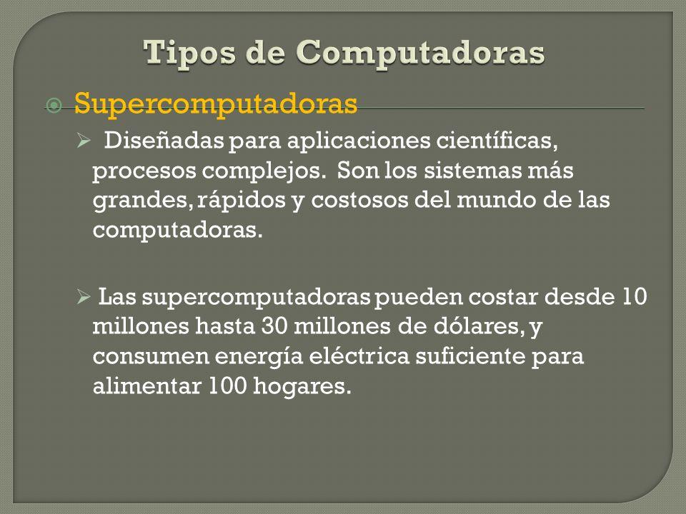 Tipos de Computadoras Supercomputadoras