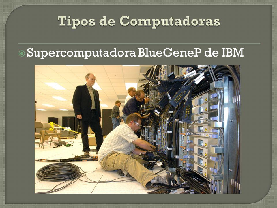 Tipos de Computadoras Supercomputadora BlueGeneP de IBM