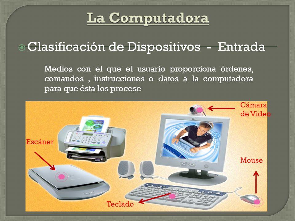La Computadora Clasificación de Dispositivos - Entrada