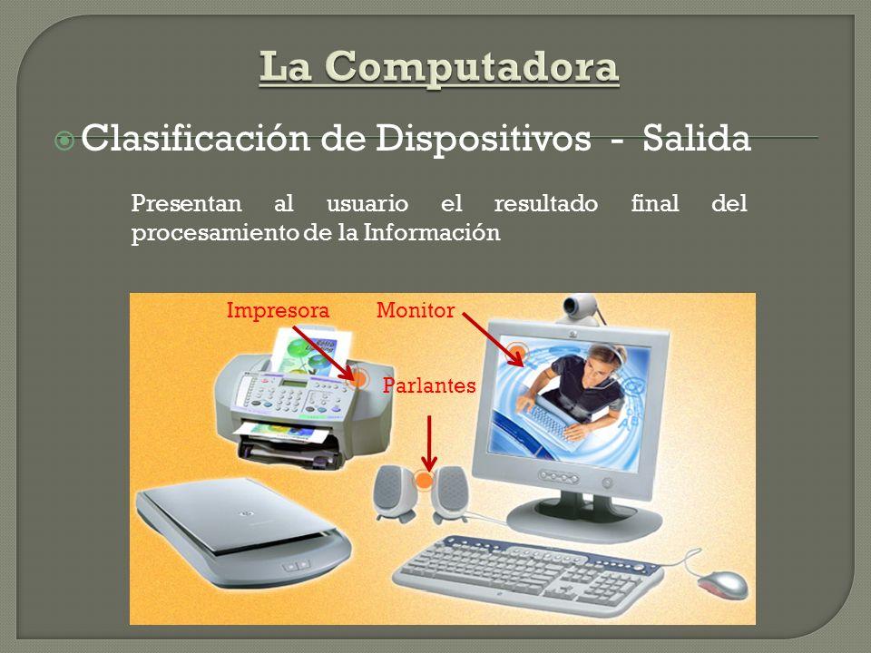 La Computadora Clasificación de Dispositivos - Salida