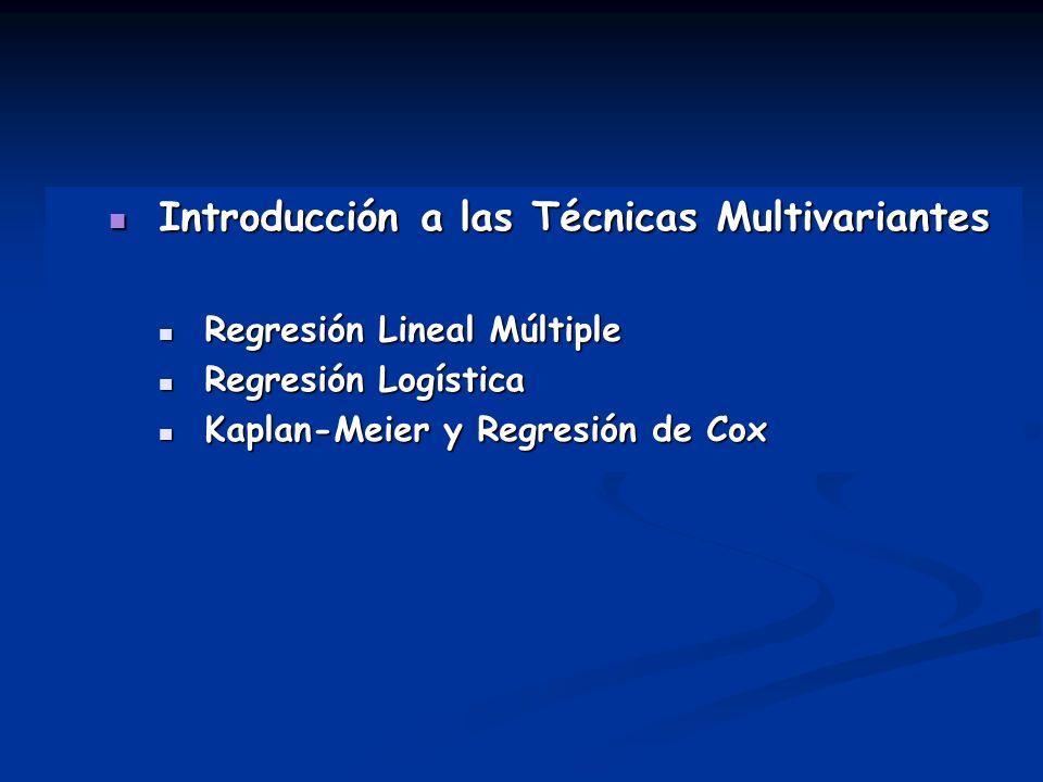 Introducción a las Técnicas Multivariantes