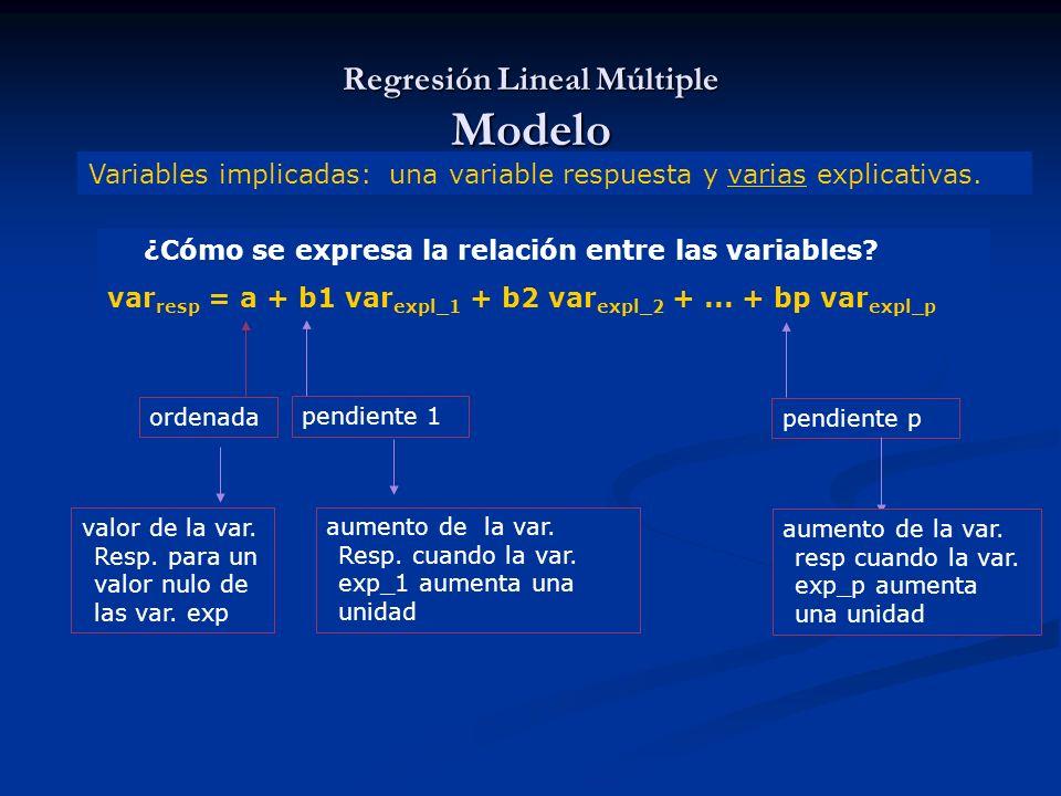 Regresión Lineal Múltiple Modelo