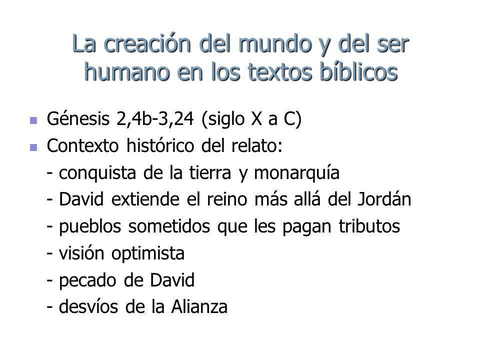 La creación del mundo y del ser humano en los textos bíblicos