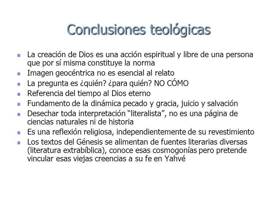 Conclusiones teológicas