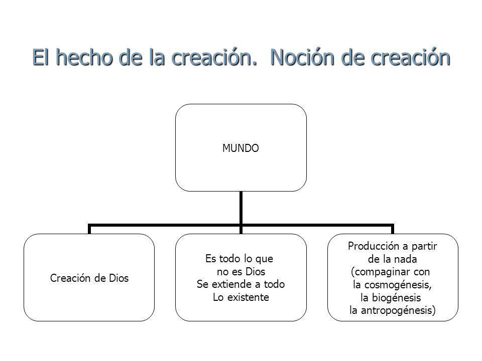 El hecho de la creación. Noción de creación